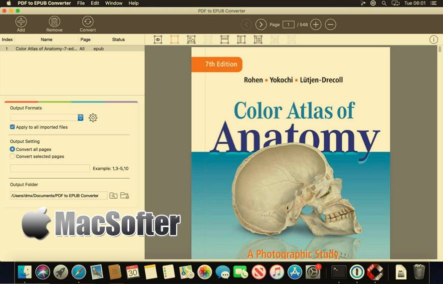 [Mac] PDF to EPUB Converter : PDF转EPUB格式转换器