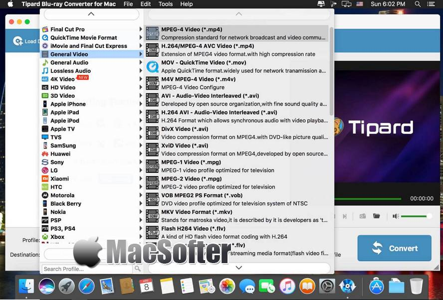 [Mac] Tipard Blu-ray Converter for Mac : 蓝光DVD视频格式转换器