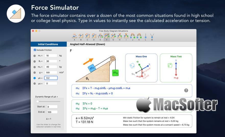 [Mac] Physics 101 : 物理学公式计算软件 Mac辅助工具 第1张