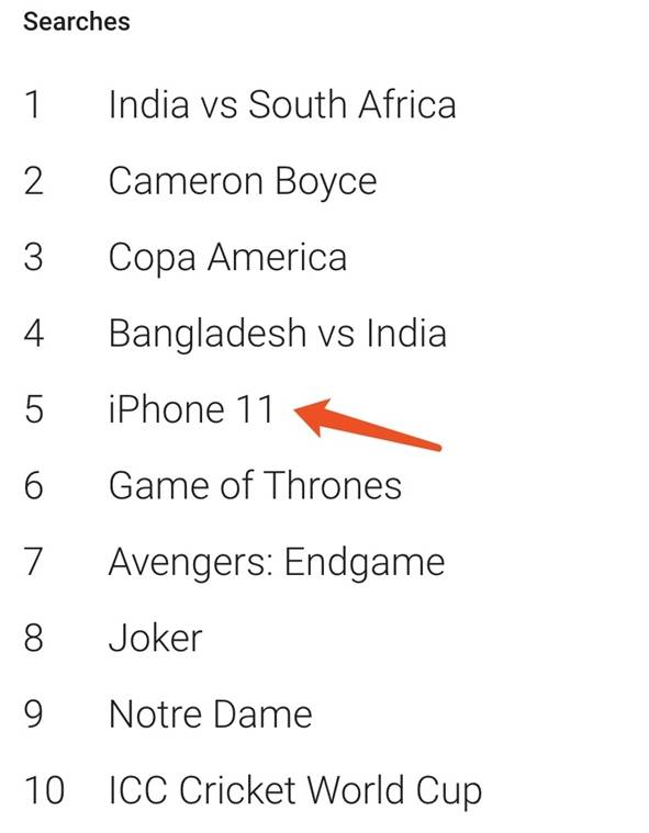 iPhone 11 成为进入谷歌年度热搜榜的唯一一款手机 苹果新闻 第1张
