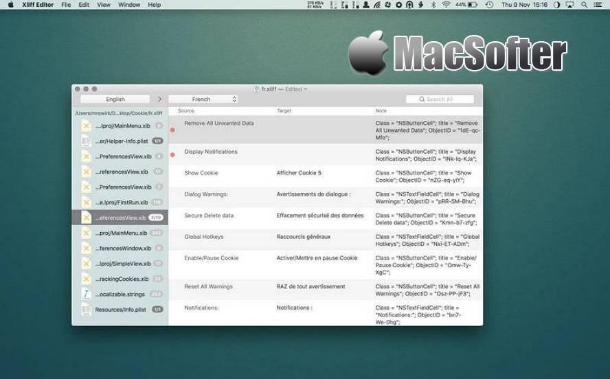 [Mac] Xliff Editor : XLIFF格式文件编辑软件 Mac开发工具 第1张
