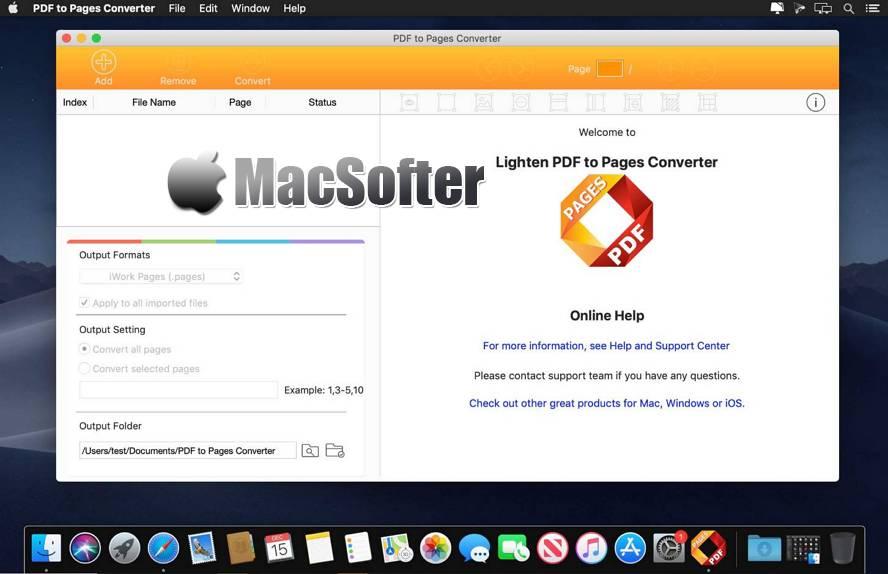 [Mac] PDF to Pages Converter : PDF转Pages格式转换器 Mac办公软件 第1张