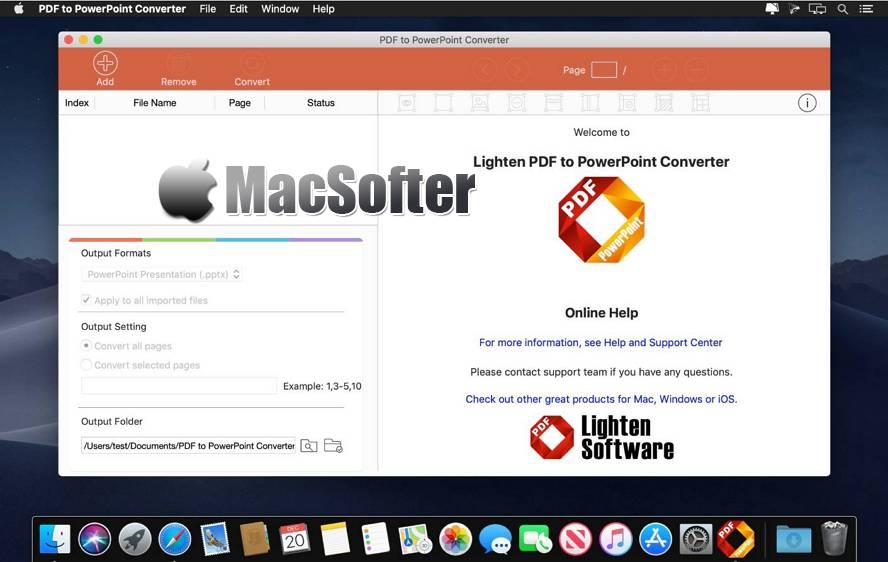 [Mac] PDF to PowerPoint Converter : PDF转PPT文档格式转换器 Mac办公软件 第1张