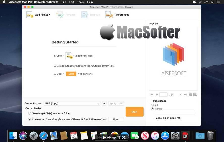 [Mac] Aiseesoft Mac PDF Converter Ultimate : 全能PDF文件格式转换器 Mac办公软件 第1张