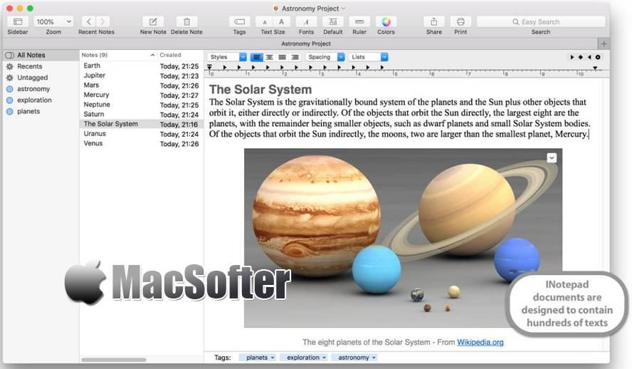 [Mac] iNotepad Pro : 强大的笔记软件 Mac办公软件 第1张