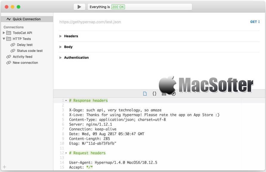 [Mac] Hypernap :webAPI快速测试工具 Mac开发工具 第1张