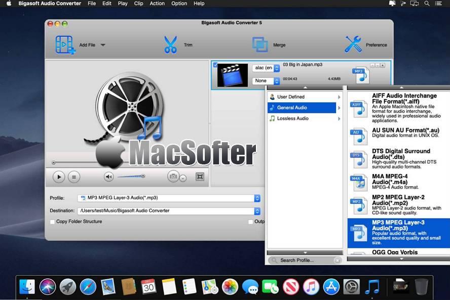 [Mac] Bigasoft Audio Converter : 好用的音频格式转换器 Mac辅助工具 第1张