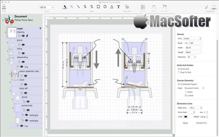 [Mac] DoodleCAD : CAD及矢量图绘图软件 Mac图像图形 第1张