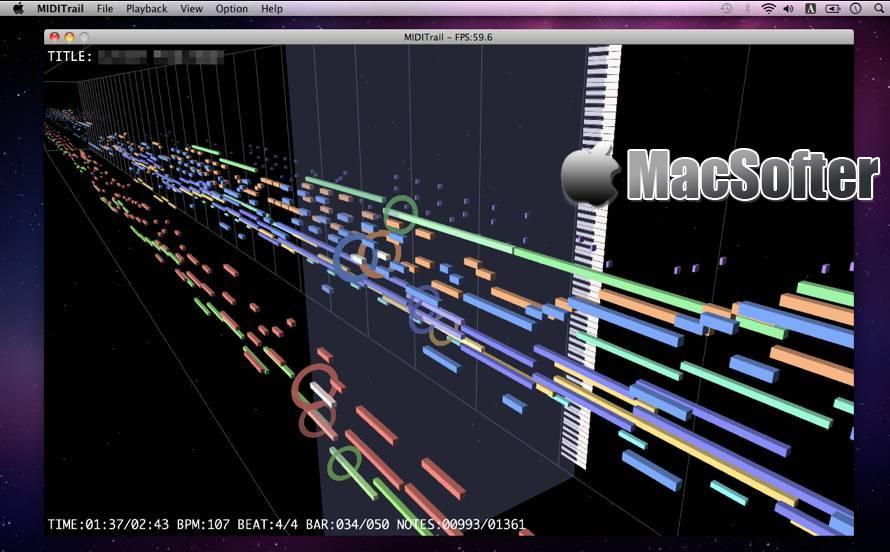 [Mac] MIDITrail : MIDI音乐可视化播放器 Mac音乐播放 第1张