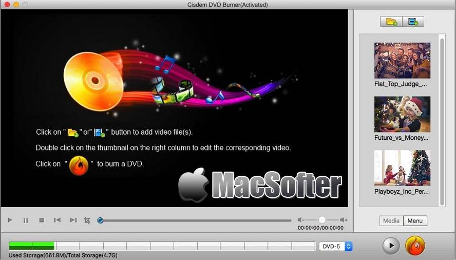 [Mac] Cisdem DVDBurner : DVD刻录软件 Mac辅助工具 第1张
