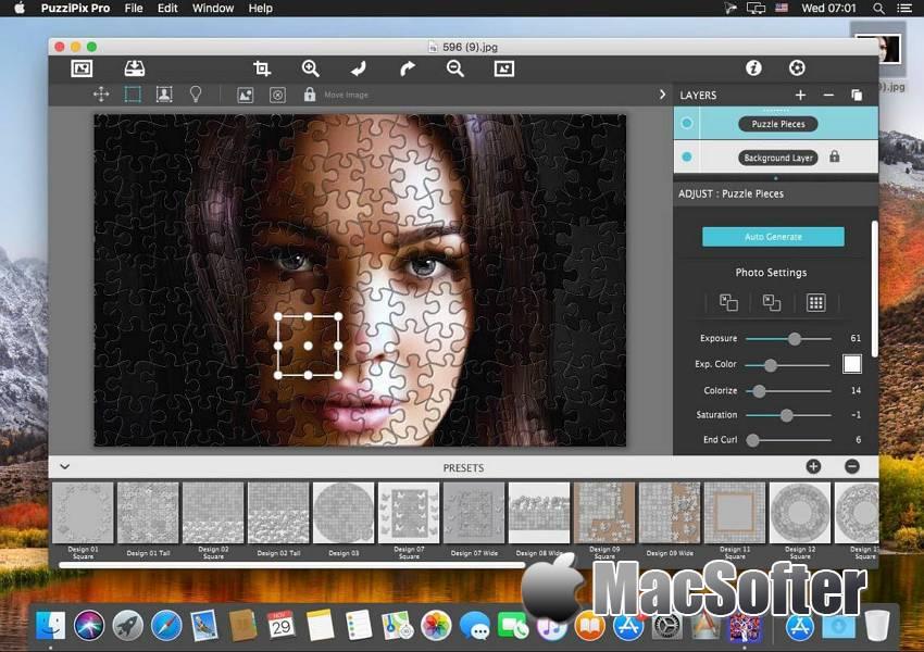 [Mac] JixiPix PuzziPix Pro : 拼图图片制作软件 Mac图像图形 第1张
