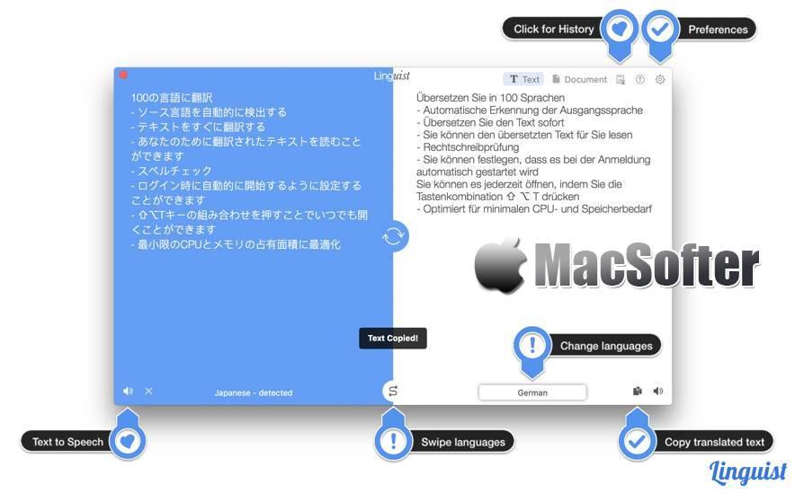 [Mac] Linguist : 好用的翻译软件 Mac辅助工具 第1张