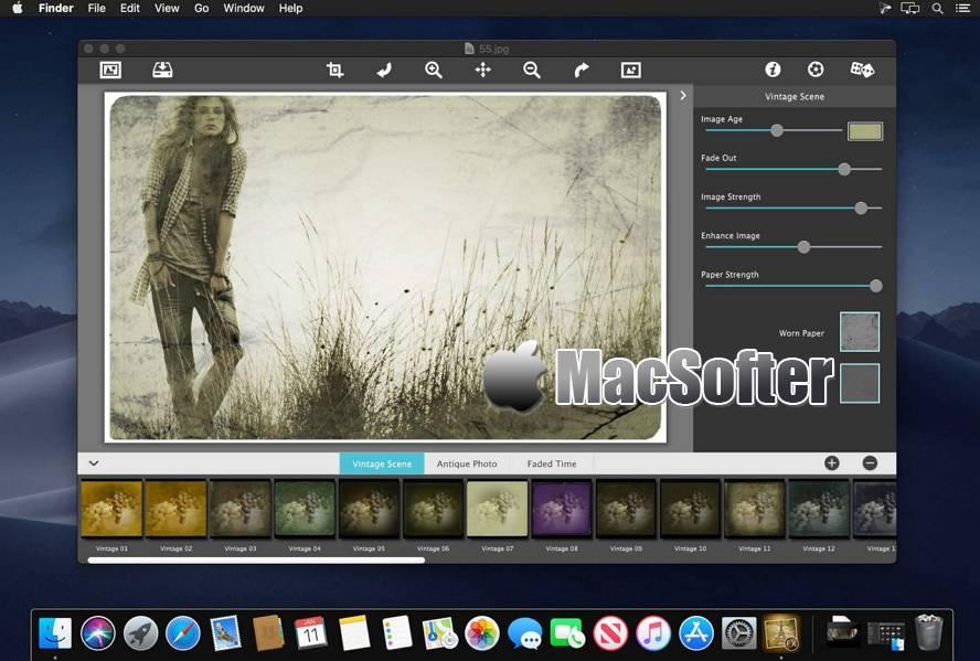 [Mac] JixiPix Vintage Scenee : 复古照片特效处理软件