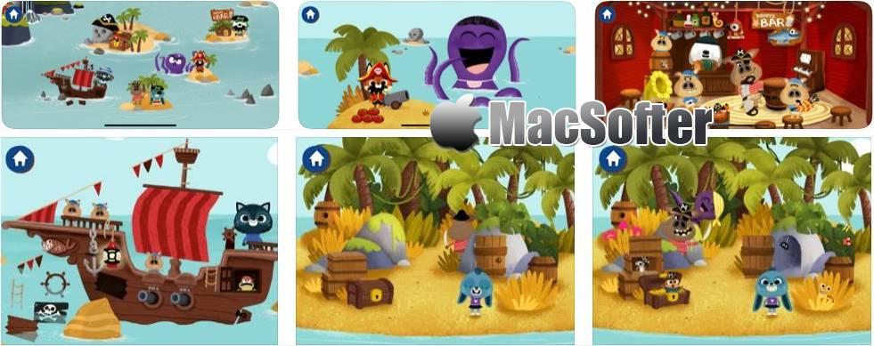 [iPhone/iPad限免] WoodieHoo 海盗 :趣味海盗冒险游戏