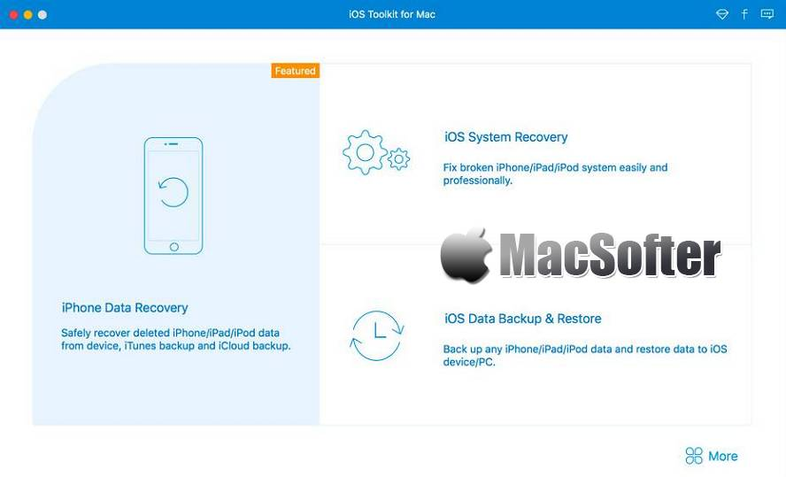 [Mac] AnyMP4 iPhone Data Recovery : iPhone、iPad等iOS设备数据恢复软件 Mac桌面工具 第1张