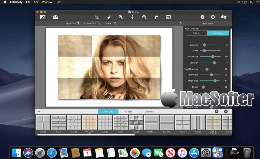 [Mac] JixiPix Fold Defy : 折痕效果的照片滤镜处理工具 Mac图像图形 第1张