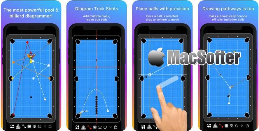 [iPhone/iPad限免] Cue Action   Shots & Layouts : 强大的台球战术图解器 iOS限免 第1张