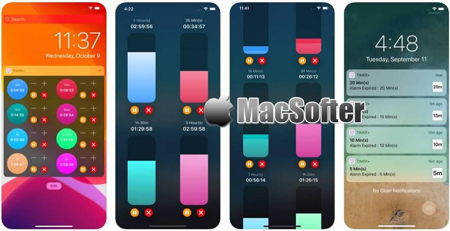 [iPhone/iPad限免] 小工具计时器 :支持多开的计时器 iOS限免 第1张