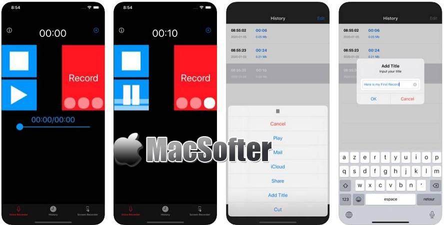[iPhone/iPad限免] 我的錄音機 , 音乐播放器 :简单方便的录音机软件 iOS限免 第1张