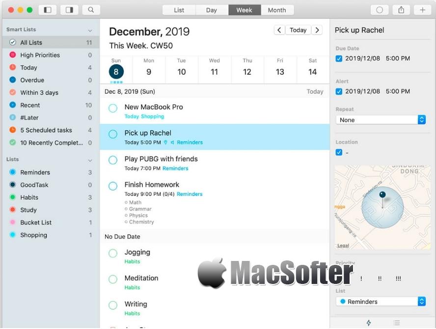 [Mac] GoodTask : 基于日历和提醒事项的项目管理软件 Mac办公软件 第1张