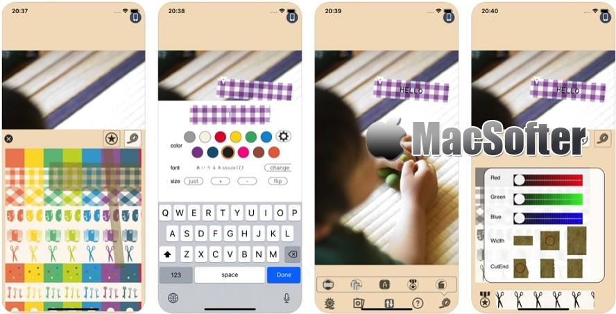 [iPhone限免] maskingtape : 图片视频添加胶带效果的标签标注 iOS限免 第1张