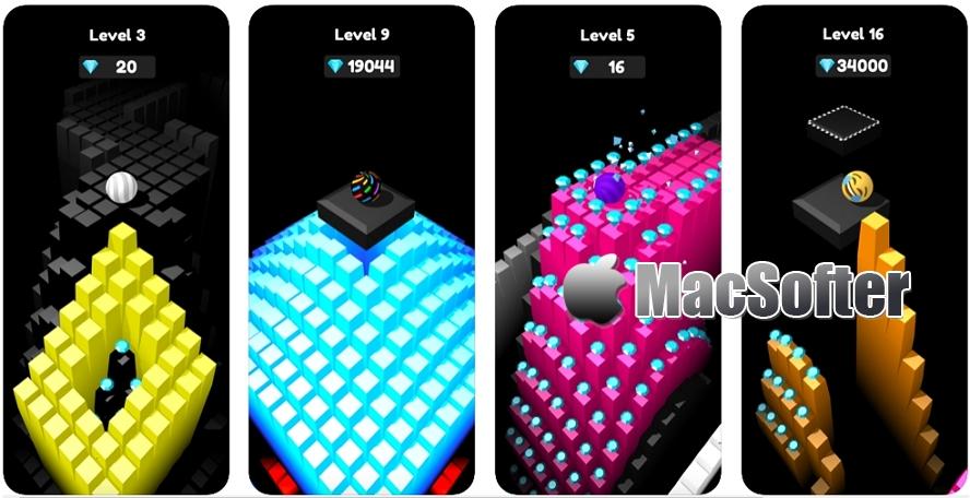 [iPhone/iPad限免] Where's The Floor? : 3D球体滚动收集宝石游戏 iOS限免 第1张