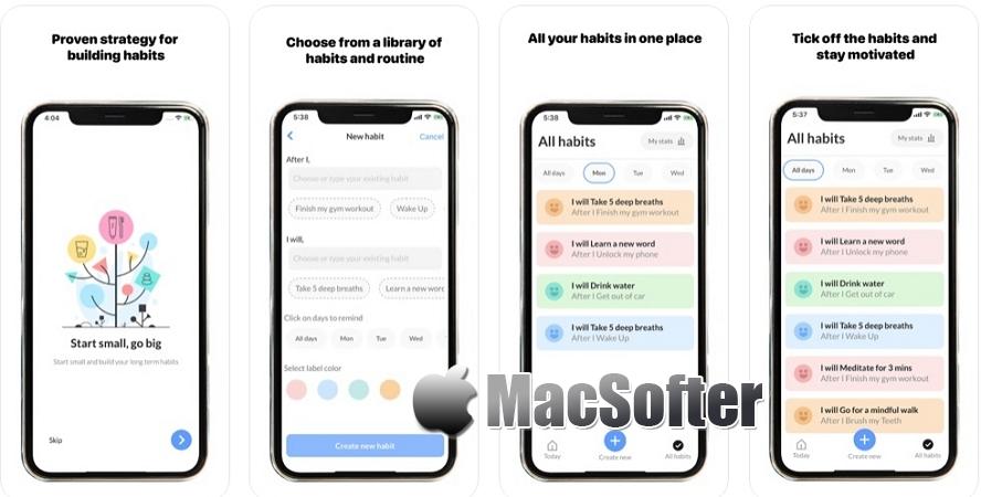 [iPhone限免] MicroHabits :界面精美的习惯养成工具 iOS限免 第1张