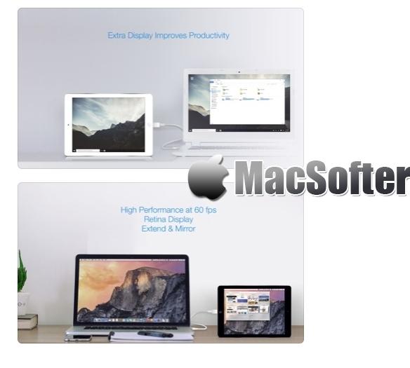 [iPhone限免] Splashtop Wired XDisplay : 将iPhone作为扩展或镜像显示器 iOS限免 第1张