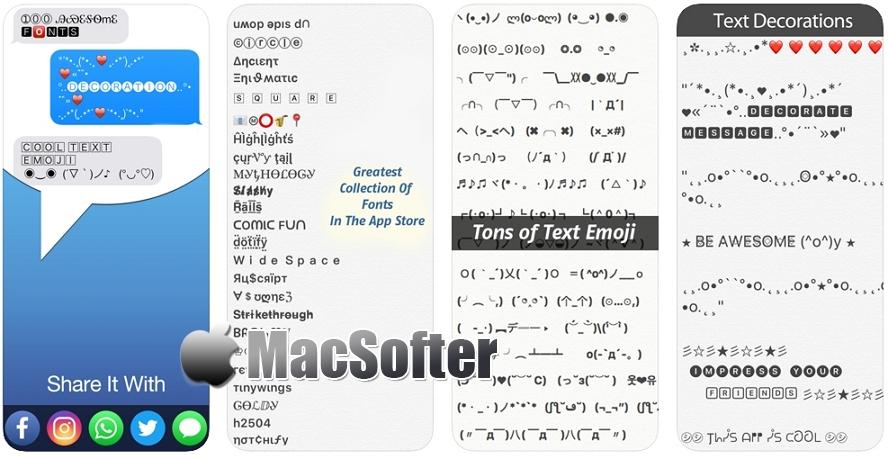 [iPhone/iPad限免] Fonts - for Instagram Pro : 特殊符号工具 iOS限免 第1张