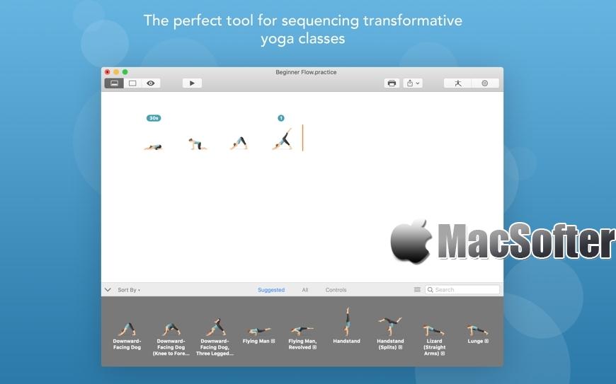 [Mac] Pocket Yoga Teacher : 瑜伽课程计划制定工具
