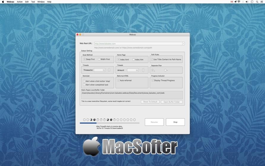 [Mac] Webvac : web页面下载工具 Mac下载工具 第1张