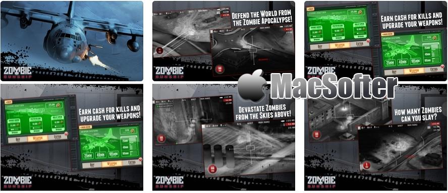 [iPhone/iPad限免] Zombie Gunship :轰炸僵尸射击游戏 iOS限免 第1张