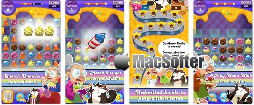 [iPhone/iPad限免] Cake Crush : 甜品店主题的消除游戏 iOS限免 第1张