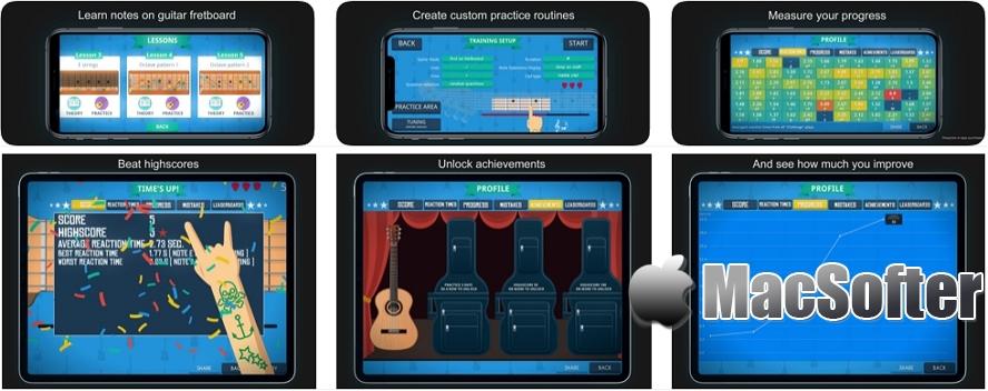 [iPhone/iPad限免] Guitario :吉他音符及指法学习软件 iOS限免 第1张
