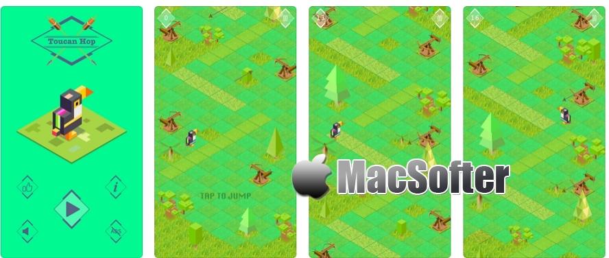 [iPhone/iPad限免] Toucan Hop : 动作益智休闲游戏 iOS限免 第1张
