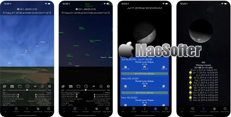 [iPhone/iPad限免] Sun & Moon 3D Planetarium Pro : 观星天文软件 iOS限免 第1张