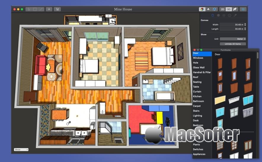 [Mac] House Builder : 好用的室内设计软件 Mac设计工具 第1张