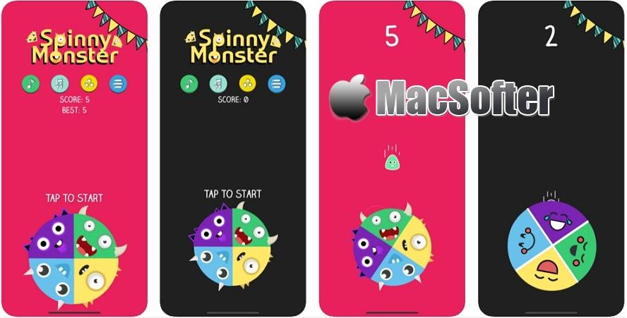 [iPhone/iPad限免] Spinny Monster : 旋转怪物休闲小游戏
