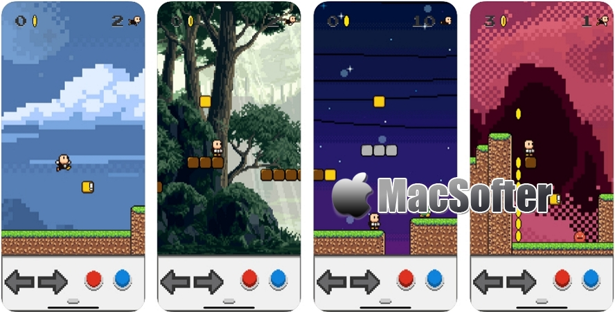 [iPhone/iPad限免] Super Bros! : 像素画风冒险游戏 iOS限免 第1张