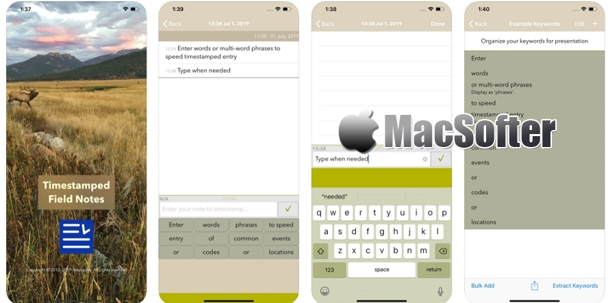 [iPhone/iPad限免] Timestamped Field Notes : 带时间戳功能的笔记软件 iOS限免 第1张