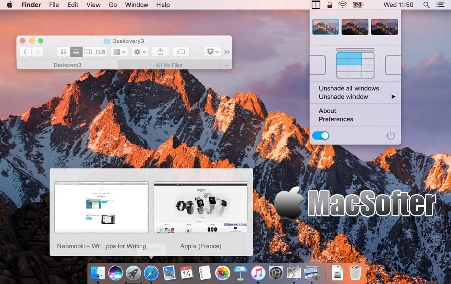[Mac] Deskovery : 方便好用的窗口管理工具