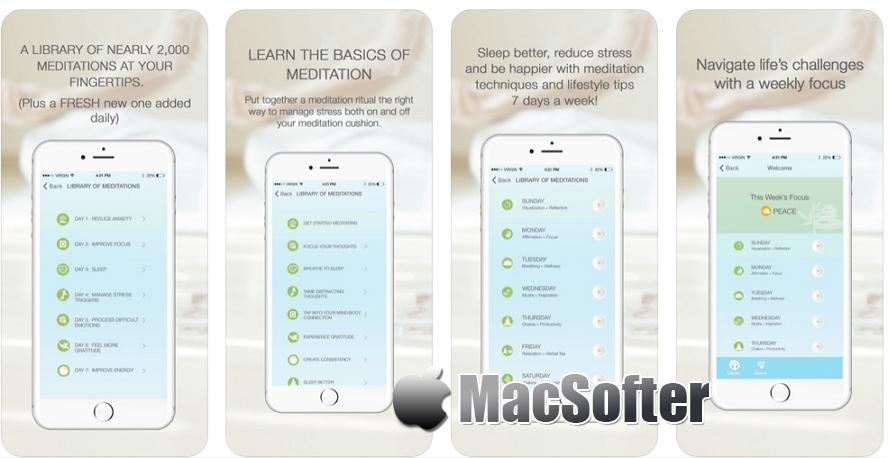[iPhone/iPad限免] Sip and Om Meditation : 冥想练习软件 iOS限免 第1张