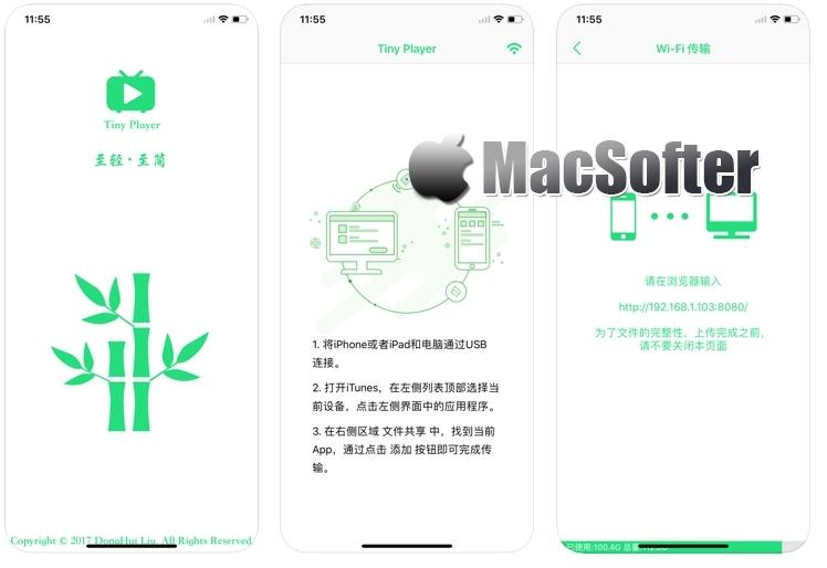 [iPhone/iPad限免] Tiny Player : 支持多种视频格式的本地视频播放器 iOS限免 第1张