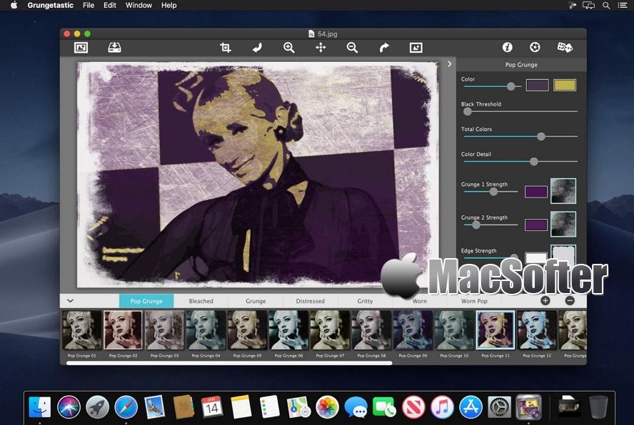 [Mac] JixiPix Grungetastic : 照片做旧特效处理软件