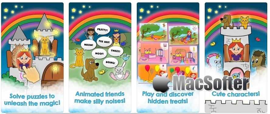 [iPhone/iPad限免] 公主游戏的女孩游戏独角兽儿童拼图 : 公主城堡风拼图游戏 iOS限免 第2张