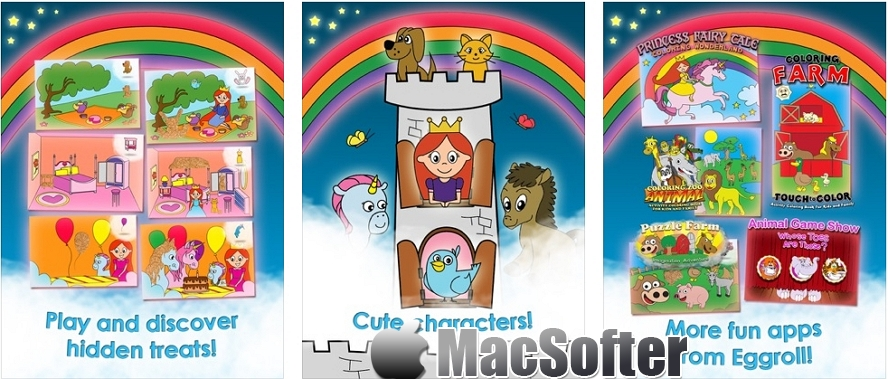 [iPhone/iPad限免] 公主游戏的女孩游戏独角兽儿童拼图 : 公主城堡风拼图游戏 iOS限免 第1张