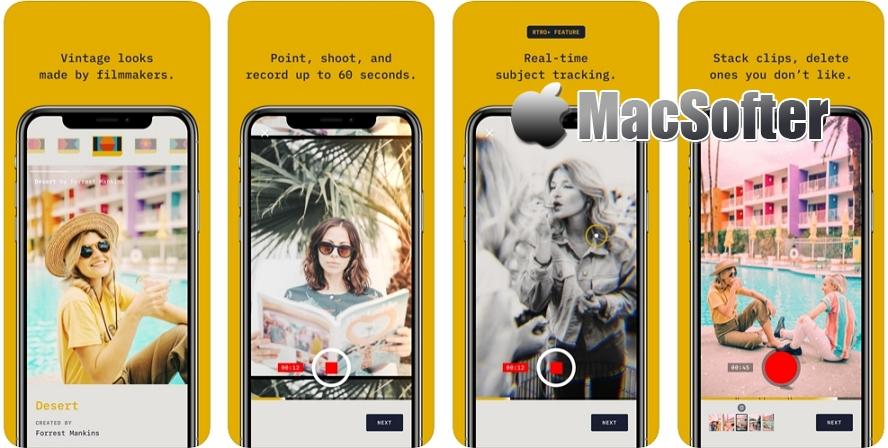 [iPhone免费] RTRO :视频复古滤镜处理工具 iOS限免 第1张