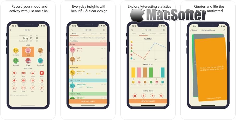 [iPhone/iPad限免] Emoly :个人情绪跟踪记录软件