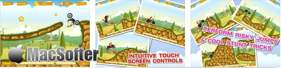 [iPhone/iPad限免] 摩托达人增强版 : 横版摩托特技游戏 iOS限免 第2张