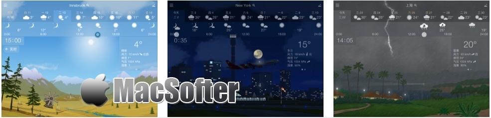 [iPhone/iPad限免] YoWindow 天气 : 精美的天气预报软件 iOS限免 第2张